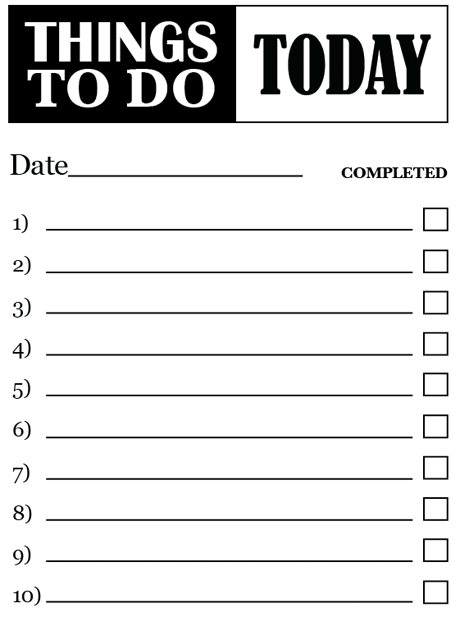 simple to do list