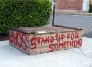 Soapbox waiting for your speech